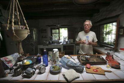 Chris Stewart in his kitchen at El Valero.