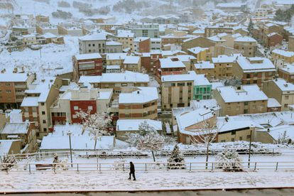 Snow in the city of Teruel this February.