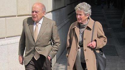Former Catalan premier Jordi Pujol and his wife Marta Ferrusola.