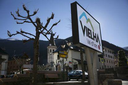 The center of Vielha in the Valle de Arán.