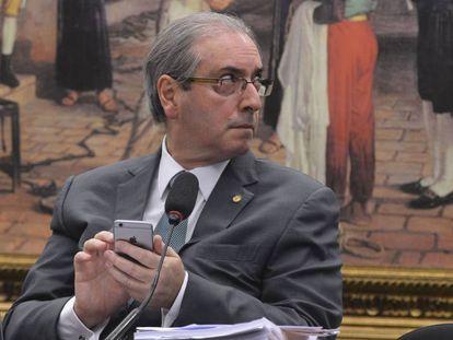 Eduardo Cunha at an event in July.