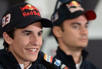 Marc Márquez during a press conference ahead the Australian Grand Prix.