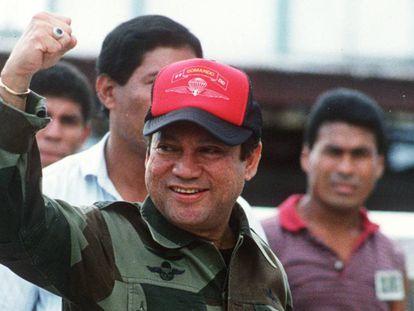 Manuel Antonio Noriega in 1989, in Panama City.