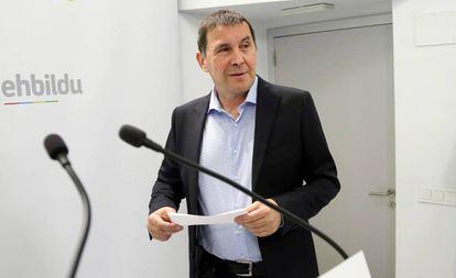 Arnaldo Otegi in a file photo.