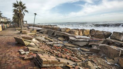 The seafront at Almenara, in Castellón, after storms last month.