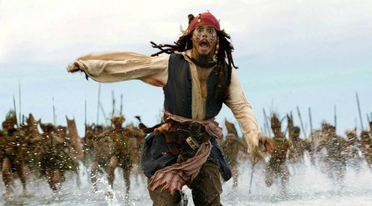 Johnny Depp in 'Pirates of the Caribbean: At World's End.'