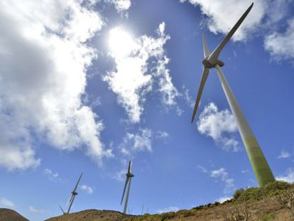 The newly inaugurated water and wind power plant in El Hierro.