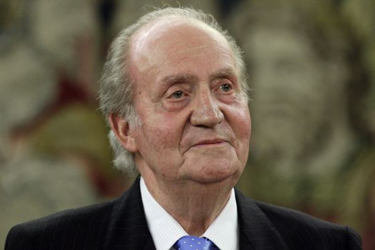 King Juan Carlos, pictured during an engagement on Monday.