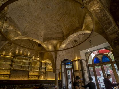 The 12th-century bathhouse discovered in the popular bar Cervecería Giralda, in Seville.