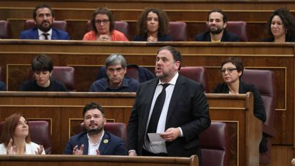 Oriol Junqueras in Congress in May of last year.