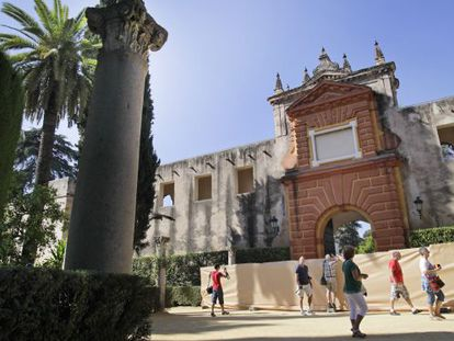 Gardens at the Real Alcázar in Seville, where 'Game of Thrones' is being filmed.