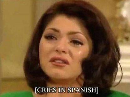 A scene from the Mexican soap opera 'María del Barrio.'