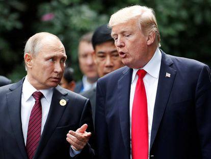 Vladimir Putin and Donald Trump.