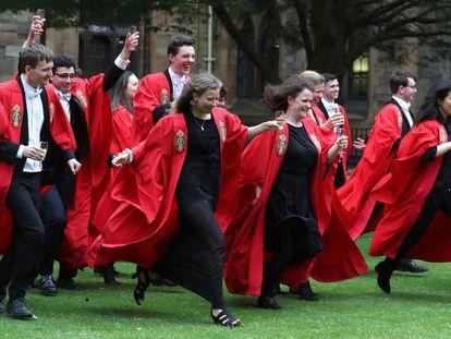 Graduation ceremony at Glasgow University in Scotland.