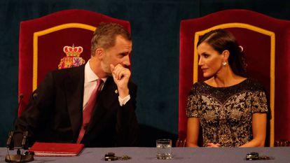 King Felipe VI with Queen Letizia.