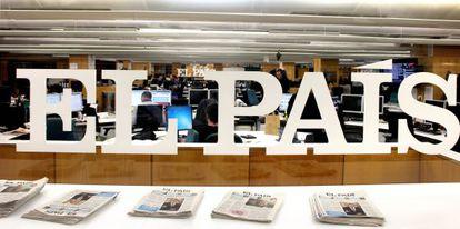 The EL PAÍS newsroom en Madrid.