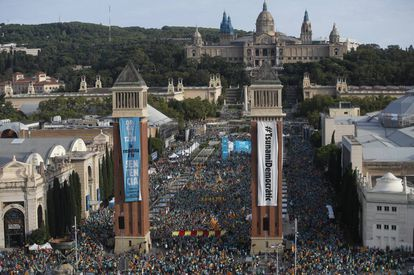 A pro-independence march in Barcelona on September 11.