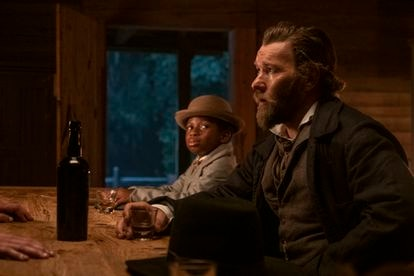 Chase Dillon and Joel Edgerton in 'The Underground Railroad.'