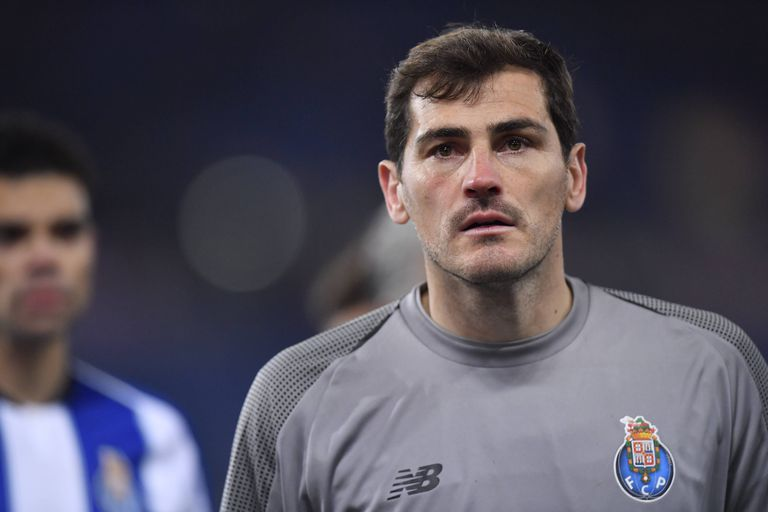 Iker Casillas during a match between Porto and Rome in February 2019.