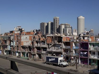 A shantytown in Buenos Aires.