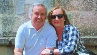 Victim Jesús Mari Baranda and suspect Carmen Merino in a photo taken from a social network.