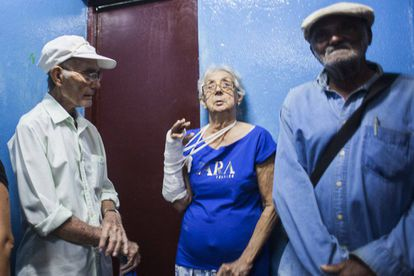 Patients waiting for their results at the Julio Trigo hospital in Havana.