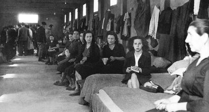 The female barracks at Rivesaltes, in March 1941.