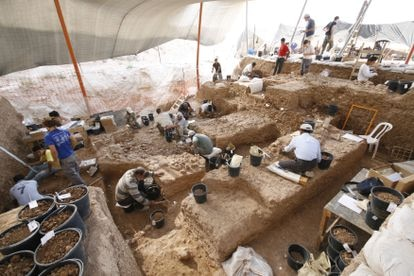 Excavations at the Nesher Ramla site in Israel.