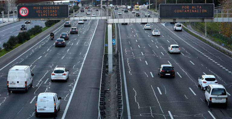 Speeds on Madrid's M-30 beltway have been limited to 70km/h.
