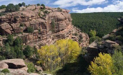 Pinares de Rodeno, protected area close to the village of Albarracín in Teruel.