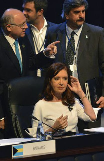 Argentina's President Cristina Fernández De Kirchner attends the opening ceremony of the Community of Latin American and Caribbean States (CELAC) summit in Havana.
