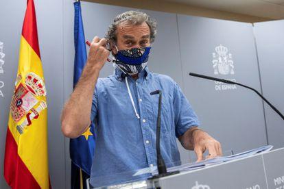 Fernando Simón at Monday's press conference.