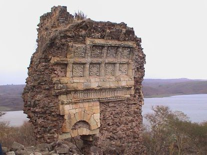 The remains of a Jesuit mission next to Lake Tana in Ethiopia.