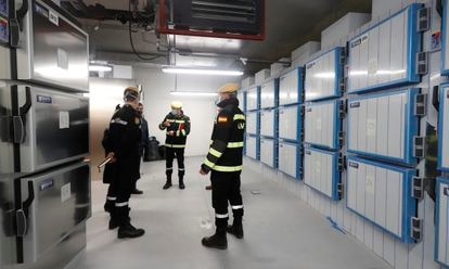 The emergency morgue in a facility in the City of Justice in Madrid.