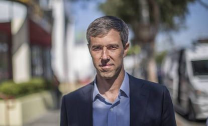 Beto O'Rourke in West Hollywood after the interview with EL PAÍS.