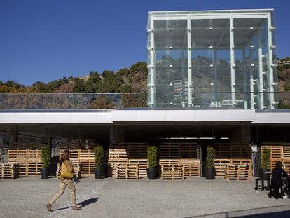 A view of the building known as El Cubo, which is set to house a new Pompidou center in Málaga.