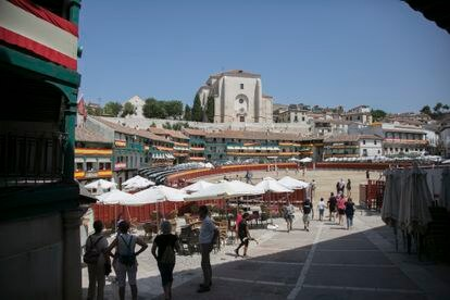 The Plaza Mayor in Chinchón during the recent local fiestas.