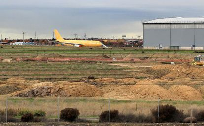 The land owned by Airbus in Getafe where Civil War shells were found.