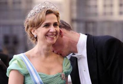 The 'infanta' Cristina and Iñaki Urdangarin at the wedding of Sweden's Crown Princess Victoria and Daniel Westling in 2010.
