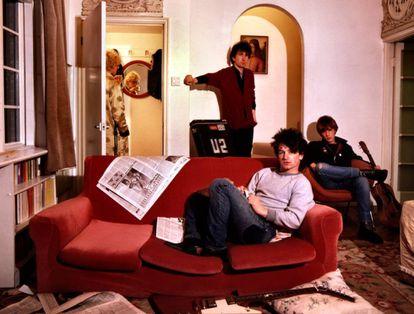 U2 at their rental home in London in 1979.