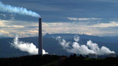The thermal power plant of As Pontes de García Rodríguez in A Coruña, Galicia.