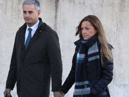 Ricardo Costa and his wife arriving in court.