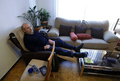 José Antonio Arrabal moments before his suicide on April 2.