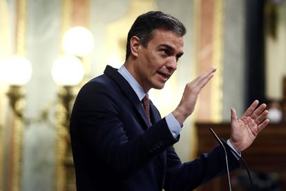 Spanish PM Pedro Sánchez talks as Congress debates a no-confidence motion filed by the far-right Vox.