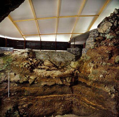 The archeological site at El Castillo.