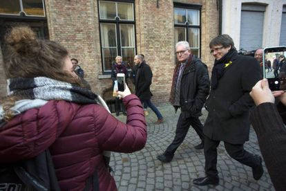 Carles Puigdemont in Bruges on November 25.