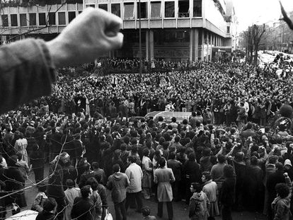 Funeral for the labor lawyers killed on Atocha street in January 1977.