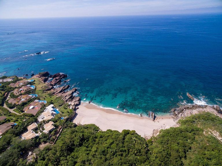 Aerial view of Punta Mita in the Mexican state of Nayarit.