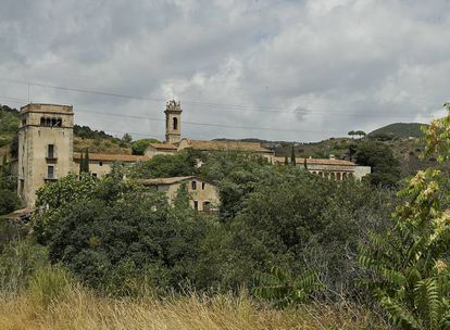 View of the monastery of Sant Jeroni de la Murtra in Badalona, Catalonia.