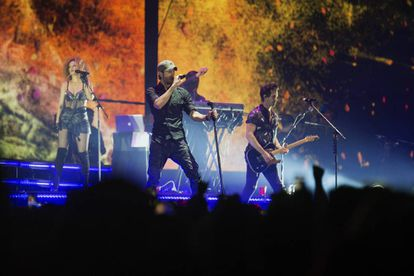 Enrique Iglesias during his performance in Santander which was part of his 'Love Sex' tour.